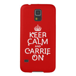 Case-Mate Barely There Samsung Galaxy S5 Case with Keep Calm and Carrie On design