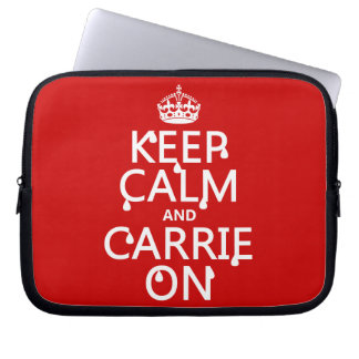 Keep Calm and Carrie On - blood - all colors Computer Sleeve