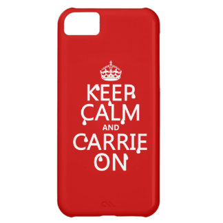 Keep Calm and Carrie On - blood - all colors Cover For iPhone 5C