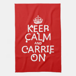 Kitchen Towel 16' x 24' with Keep Calm and Carrie On design