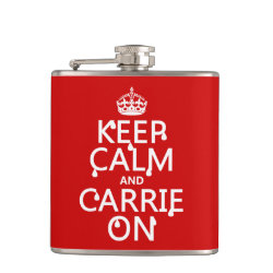 Vinyl Wrapped Flask, 6 oz. with Keep Calm and Carrie On design