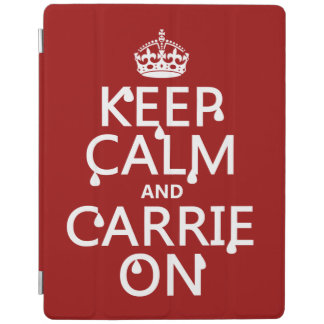 Keep Calm and Carrie On - blood - all colors iPad Cover