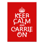 Keep Calm and Carrie On - blood - all colors Invites