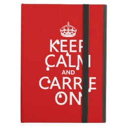 iPad Air Powis Case with Keep Calm and Carrie On design
