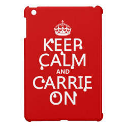 Case Savvy iPad Mini Glossy Finish Case with Keep Calm and Carrie On design