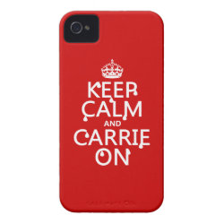 Case-Mate iPhone 4 Barely There Universal Case with Keep Calm and Carrie On design