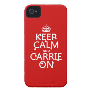 Keep Calm and Carrie On - blood - all colors iPhone 4 Case-Mate Case