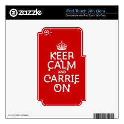 iPod Classic (80/120/160GB) Skin with Keep Calm and Carrie On design