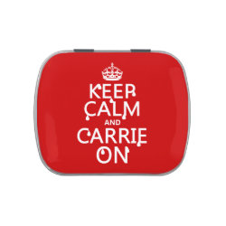 Rectangle Jelly Belly™ Candy Tin with Keep Calm and Carrie On design