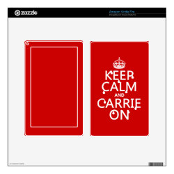 Amazon Kindle DX Skin with Keep Calm and Carrie On design