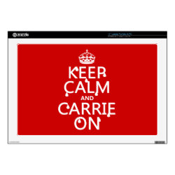 17' Laptop Skin for Mac & PC with Keep Calm and Carrie On design