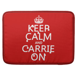Macbook Pro 15' Flap Sleeve with Keep Calm and Carrie On design