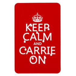 4'x6' Photo Magnet with Keep Calm and Carrie On design