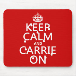 Mousepad with Keep Calm and Carrie On design