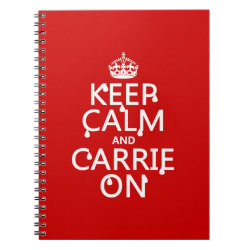 Photo Notebook (6.5' x 8.75', 80 Pages B&W) with Keep Calm and Carrie On design