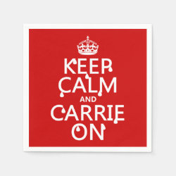 Paper Napkins with Keep Calm and Carrie On design