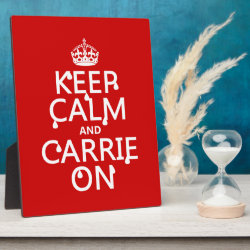 Photo Plaque 8' x 10' with Easel with Keep Calm and Carrie On design