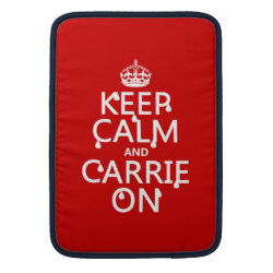 Macbook Air Sleeve with Keep Calm and Carrie On design