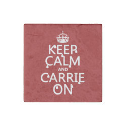 Marble Magnet with Keep Calm and Carrie On design