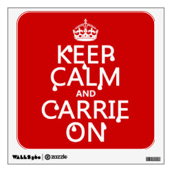 Walls 360 Custom Wall Decal with Keep Calm and Carrie On design
