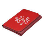 Keep Calm and Carrie On - blood - all colors Wallets