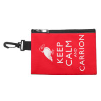 Keep Calm and Carrion Clip On Accessory Bag