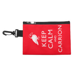 Clip On Accessory Bag with Keep Calm & Carrion (vulture) design
