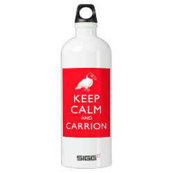 SIGG Traveller Water Bottle (0.6L) with Keep Calm & Carrion (vulture) design