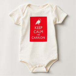 Infant Organic Creeper with Keep Calm & Carrion (vulture) design