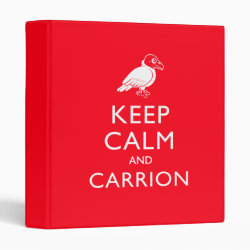 Avery Signature 1' Binder with Keep Calm & Carrion (vulture) design