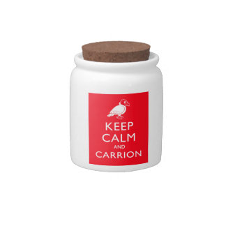 Keep Calm and Carrion Candy Dishes