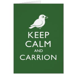 Greeting Card with Keep Calm and Carrion design