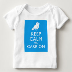 Baby Fine Jersey T-Shirt with Keep Calm and Carrion design