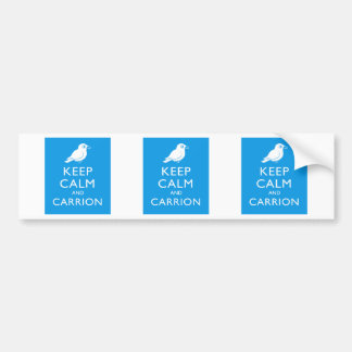 Keep Calm and Carrion (crow) Bumper Stickers