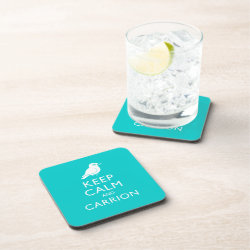 Beverage Coaster with Keep Calm and Carrion design