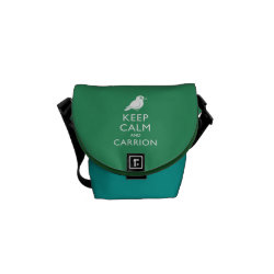 Rickshaw Mini Zero Messenger Bag with Keep Calm and Carrion design