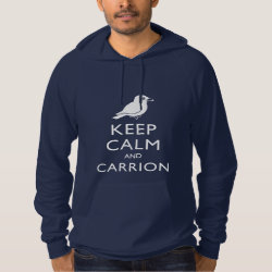 American Apparel California Fleece Pullover Hoodie with Keep Calm and Carrion design