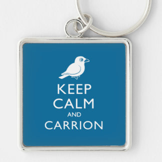 Keep Calm and Carrion (crow) Keychains