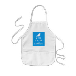 Kid's Apron with Keep Calm and Carrion design
