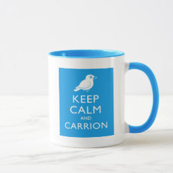 Combo Mug with Keep Calm and Carrion design