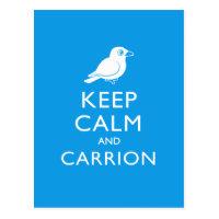 Keep Calm & Carrion (crow) Postcard