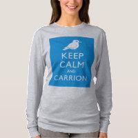 Keep Calm & Carrion (crow) Women's Basic Long Sleeve T-Shirt
