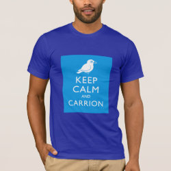 Men's Basic American Apparel T-Shirt with Keep Calm and Carrion design