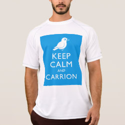 Men's Champion Double Dry Mesh T-Shirt with Keep Calm and Carrion design