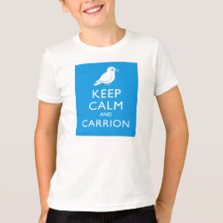 Kids' American Apparel Fine Jersey T-Shirt with Keep Calm and Carrion design