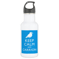Keep Calm & Carrion (crow) Water Bottle (24 oz)