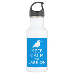 Water Bottle (24 oz) with Keep Calm and Carrion design