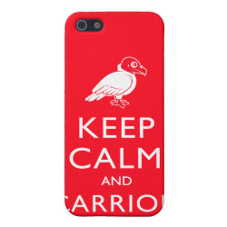 Case Savvy iPhone 5 Matte Finish Case with Keep Calm & Carrion (vulture) design