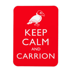 3'x4' Photo Magnet with Keep Calm & Carrion (vulture) design
