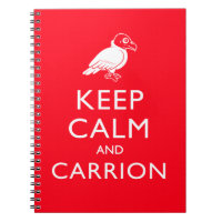 Keep Calm and Carrion Photo Notebook (6.5